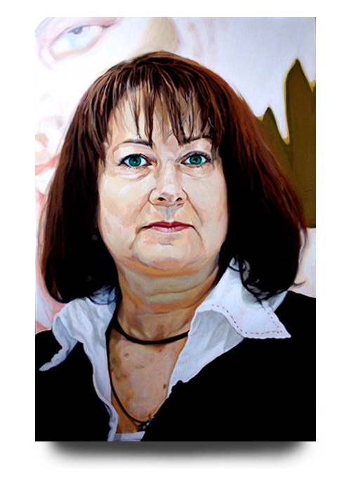 Caren Golden, acrylic on canvas by Tom Hébert