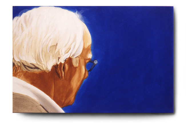 Fred Looking At Klein, acrylic on canvas by Tom Hébert